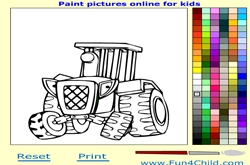 Tractor games coloring